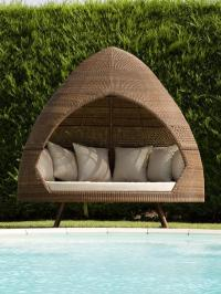 2019 Outdoor Hut Day Bed PE Rattan Garden Furniture From ...
