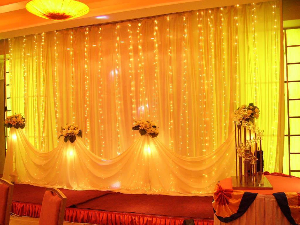 Curtain lights for weddings - 1024 Led Lights 8m 4m Curtain Lights Christmas Ornament Light