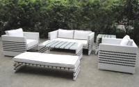 2018 Black Strip White Rattan Sofa Set Garden&Outdoor ...