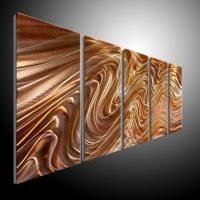 Metal Wall Art Abstract Contemporary Sculpture Home Decor ...