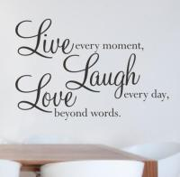 Live Laugh Love Wall Quote Decal Decor Sticker Lettering ...
