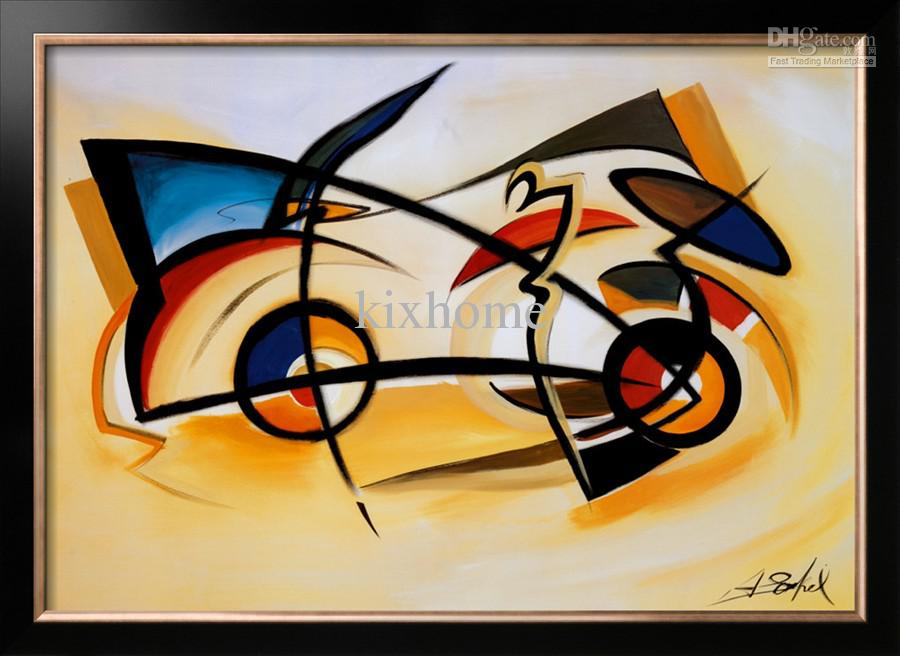 Oil Painting Abstract Home Decor Canvas Perpetual Motion By Alfred
