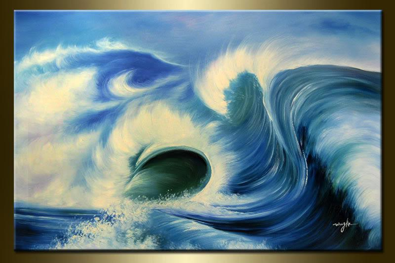 abstract oil painting ocean