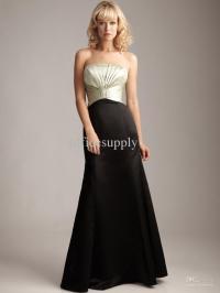 Black And Gold Bridesmaid Dress
