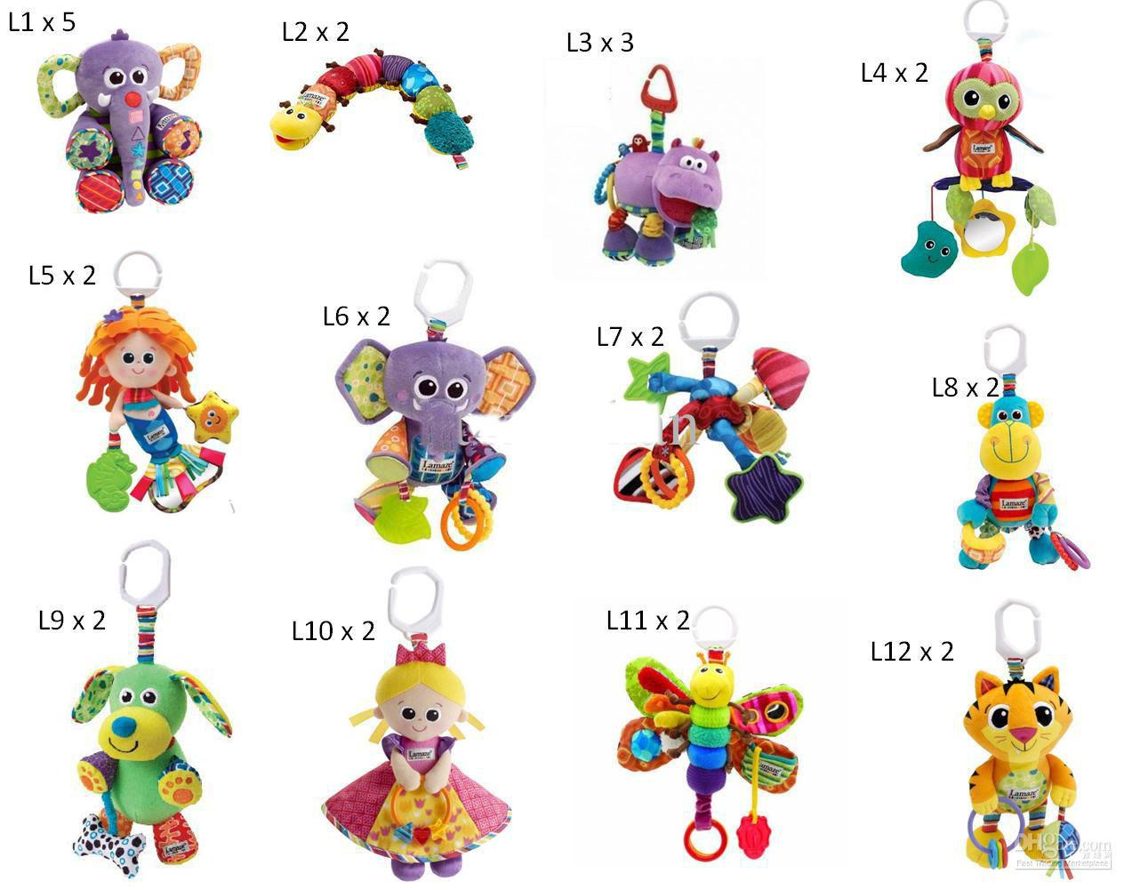 Lamaze Crib Toys With Rattle Teether Infant Early Development Toy Stroller Music Toy From