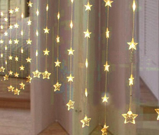 Yellow Light LED Five Pointed Star Curtain LED Light