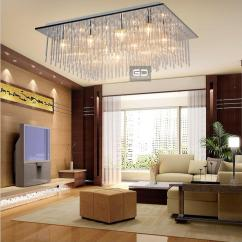 Ceiling Lights For Living Rooms Vintage Country Room Modern Fashion Square Bedroom Lighting Lamps Glass Rod Material Design