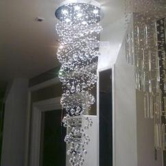 Lights For Kitchen Island Remodel Price Double Helix Design Crystal Pendants Penthouse Stair Lamp ...