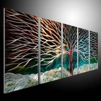 2017 Metal Wall Art Abstract Modern Sculpture Painting ...