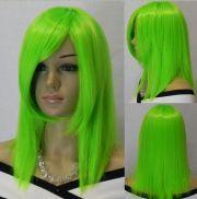 light green medium long straight