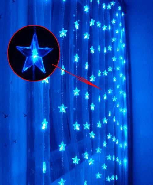 Five Pointed Star 180 LED 33m Curtain LightsChristmas