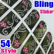 54style nail art bling rhinestone