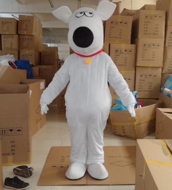 White Scooby Doo Mascot White Dog Costumes Halloween
