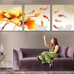 Living Room Decorative Items Cabinet Decorating Ideas 2018 Top Painting Nine Fish Lotus ...