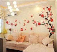 Removable Plum Blossom Living Room Decorative Wall ...