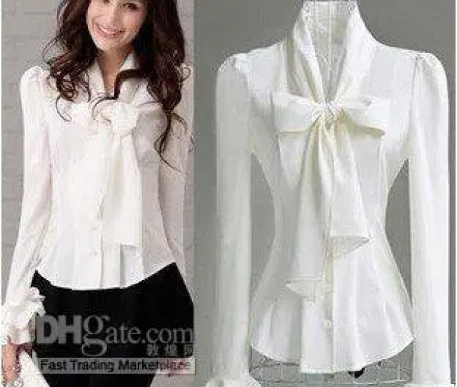 Blouse S Xxl Women White Fashion Long Sleeved Temperament Silm Moq Zhl From Wholesale Apparels   Dhgate Com