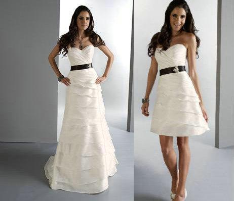 Discount Cheap Two Piece Detachable Skirt Wedding Dresses