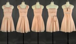 Short Peach Bridesmaid Dresses
