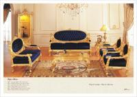 2017 French Antique Furniture ,All Golden Foil Living Room