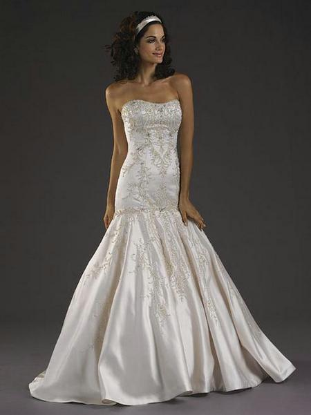 Satin Trumpet Wedding Dress