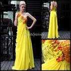Long Yellow Evening Dress