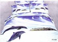 Brand New Purple Dolphin Animal Pattern Bedding Set Cotton ...