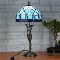 2017 Tiffany Table Lamp Blue Lighting Fashion Bedroom ...