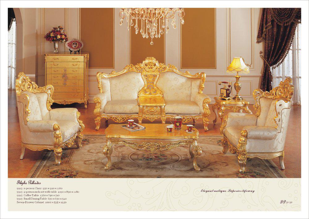 buy living room furniture online framed artwork for classic sofa set all golden solid wood with 10661 51 on