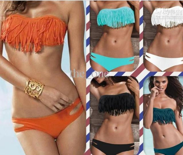 Ems Free For Ausexy Girl Lady Padded Boho Fringe Top Strapless Dolly Bikini Swimwearmixed Online With 1109 88 Set On The_ones Store Dhgate Com