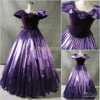 Purple Victorian Ball Gown Wedding Dresses
