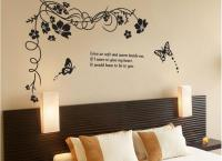 Black Butterfly Plane Wall Stickers Tv Backdrop Decoration ...
