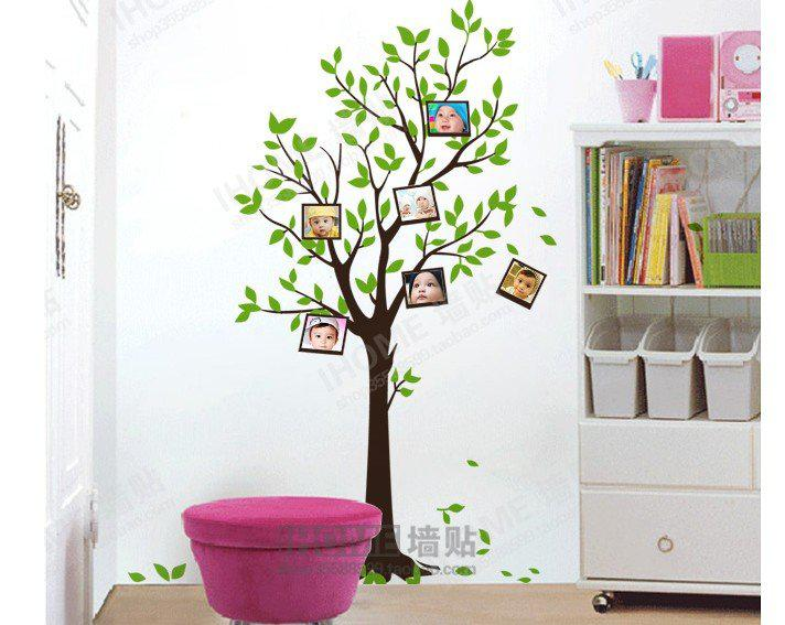 Popular Home Decor Pvc Material Diy Wall Sticker Photo Tree2 Room