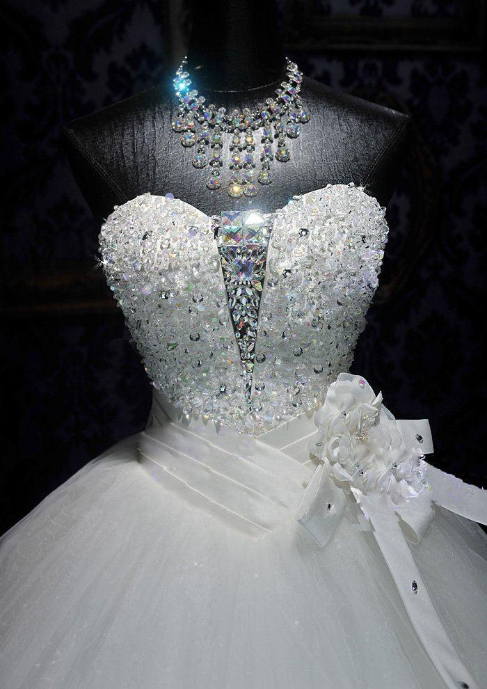 Crystal Wedding Dresses 2013 Sexy Sweetheart Ball Gown