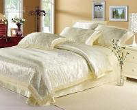 Luxury White Cream Jacquard Lace Bedding Sets King Queen ...