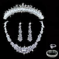 Crystal Bridal Jewelry Sets Hotsale Necklace+Earrings ...