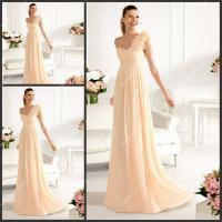Light Orange Chiffon Bridesmaid Dresses with Delicate ...
