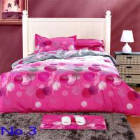 Pink 100% Cotton Printed Soften Bedding Set Creative Quilt