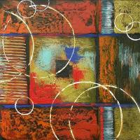 2017 Modern Art Creative Ring Art Abstract Oil Painting