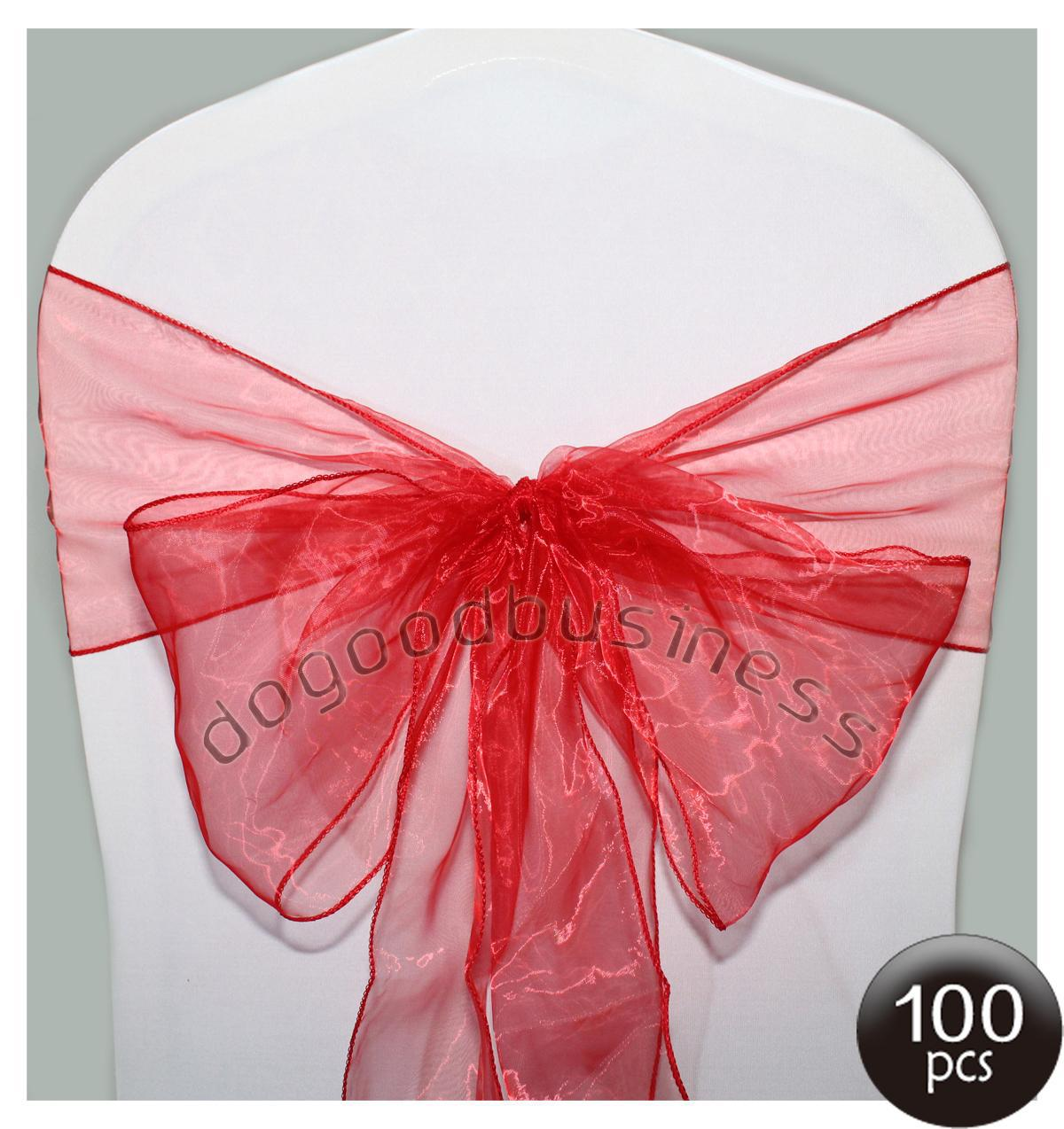 chair covers wholesale china office zjk-5127m best quality red organza sashes bow cover banquet