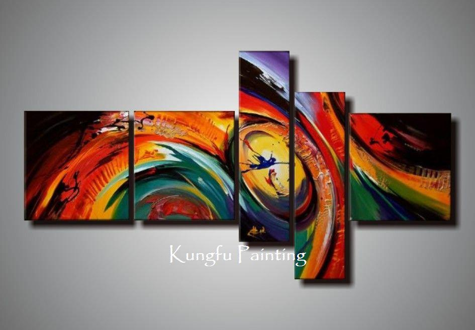 modern living room canvas art simple design in nigeria 100 hand painted unframed abstract 5 panel cheap moon best chinese prints