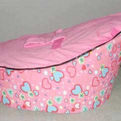 Sofa Chair For Baby Girl Cape Town Manufacturers 2019 New Bean Bag Cover Kids With Two Tops Change Pink Hearts Soft Strap Printed Fabric Infant No Filling From