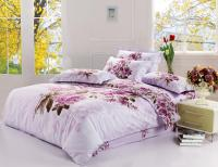 New King Size Bedding Set Purple Floral Quilt Cover Bed ...