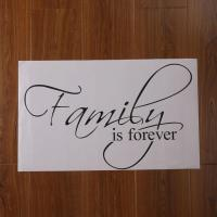 Family Is Forever Vinyl Lettering Wall Art Saying Home ...