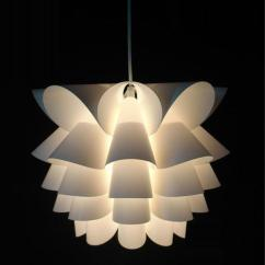 Hanging Light Fixtures Living Room Simple Wooden Furniture Designs For 2 Diy Modern Lotus Plastic Pendant Lamp Dining Suspension Bedroom Small Size Corrider Balcony