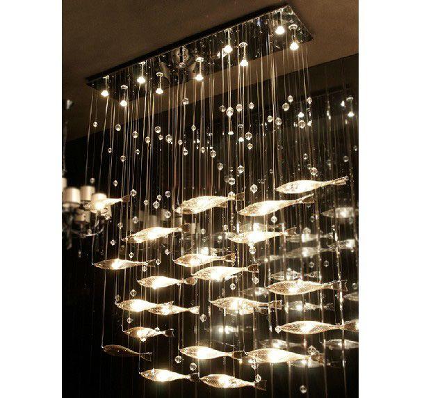 2019 Modern Fashion Glass Fish Swarm Ceiling Light