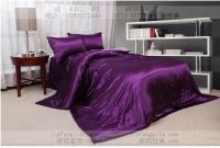 Purple Pink Silk Comforter Bedding Set King Queen Size ...