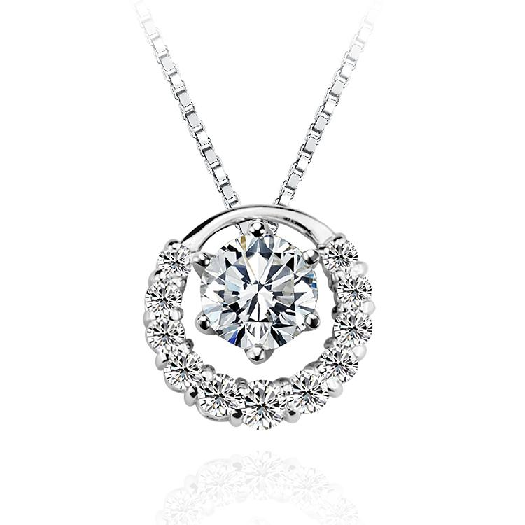 925 Sterling Silver Necklace Three Women Wearing Short