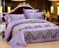 Luxury Purple Printed Queen King Bed Duvet Quilt Cover ...