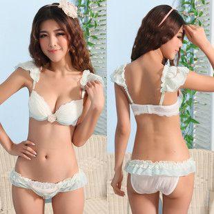 2013 Girls Sexy And Sweet Flouncing Chiffon V Neck Bra Sets Underwire Uk 2019 From Fashion_zoom Uk 15 19 Dhgate Uk