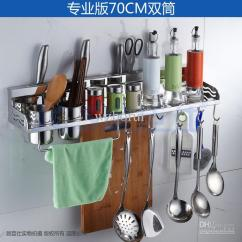 Metal Kitchen Rack White Corian Countertops 2019 304 Stainless Steel Shelf Cooking Utensil Tools Hook Holder Amp Storage 70cm M 004a From Wzborui
